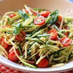 "Zucchini ""Pasta"" Recipe - Italian Food Forever"