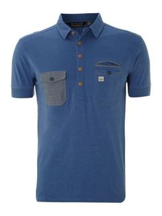 0eba64caecbf Duck and Cover Double pocket marl polo Navy - House of Fraser