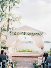 Orlando, FL + Weddings + Southern Romantic Wedding + Cypress Grove Estate House Wedding + No Color Wedding + Blush, peach, ivory wedding + Seeded Eucalyptus + wedding lake side + Southern Wedding + Rivini Wedding Gown + Party Flavors + Swanky I Do's + Soundwave Entertainment + Jim Hejlm + Michelle March Photography + Orlando Wedding Planner