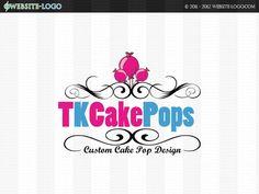 Website Logo Design for TK Cake Pops Pop Custom, Website Logo, Pop Design, Unique Logo, Branding Your Business, Logo Inspiration, Brand You, Cake Pops, Logos