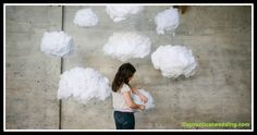 How To: Make Your Own Surreal DIY Cloud Wedding Backdrop - A Practical Wedding: We're Your Wedding Planner. Wedding Ideas for Brides, Bridesmaids, Grooms, and Diy Party Decorations, Baby Shower Decorations, Ballon Lampe, Ikea Lighting, Hanging Clouds, Diy Foto, Cute Diy Projects, Practical Wedding, Backdrops