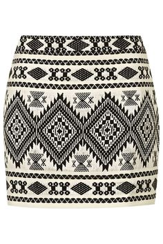 PETITE Blanket Mini Skirt - Topshop