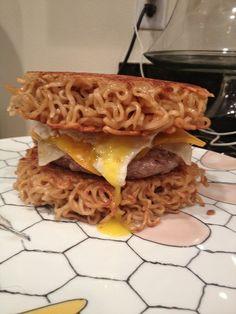 Homemade Ramen-Burger. What's not to like?
