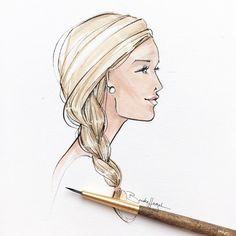 """Brooke Hagel on Instagram: """"Blond braided beauty."""""""