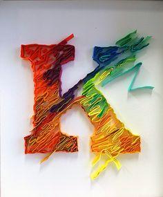 『文字遊び』 子供 Cute Letters, 3d Letters, Letters And Numbers, Quilling Letters, Quilling Paper Craft, Paper Crafts, Quilled Paper Art, Paper Quilling Designs, P Logo Design