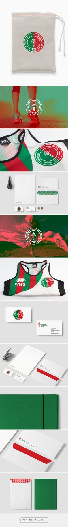 Ternana Marathon Club | Bocanegra Design Studio Identity designed for a running team bocanegrastudio.com #identity #logo #branding #brandidentity #logodesign #stationery #visualidentity