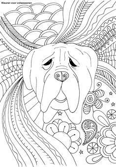 Kleurplaten Honden Voor Volwassenen.Kleurplaten Schattige Honden Puppies Voor Volwassenen Kleurplaten