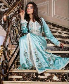 ميساء مغربي بالقفطان المغربي