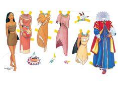PARA IMPRIMIR: Princesas de Disney-Muñecas recortables