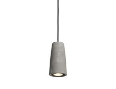 URBI et ORBI Phari concrete lamp D8cm, H18cm, socket GU10 colored pvc-cloth cable designed by urbi et orbi