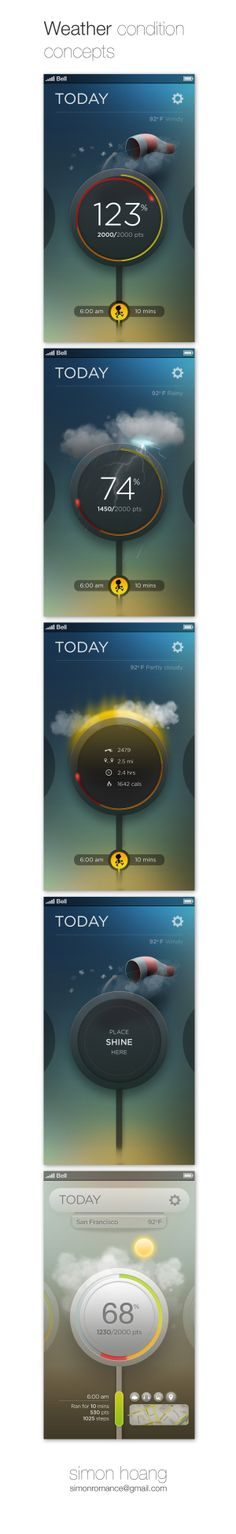 Misfit Shine: Weather conditions by Simon Hoang, via Behance