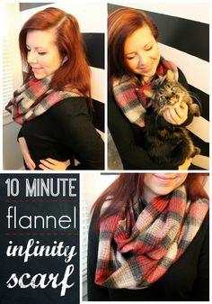 eat.sleep.MAKE.: 10 Minute Flannel Infinity Scarf