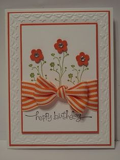 In My Craft Room: Silhouette Sentiments in Tangerine Tango