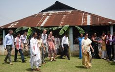 Kate Middleton changed into a dress  for her visit to Pan Bari Village in Assam after spending the morning on safari.