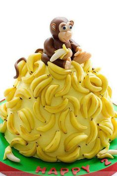 cake decoration idea--would be cute with Curious George