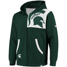ab613039b46be Michigan State Spartans Fanatics Branded Big   Tall Iconic Bold Full-Zip  Hoodie – Hunter Green