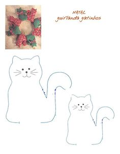 gato by ♥Bete Bazzi♥ Tecidinho Costurado, via Flickr Cat Applique, Applique Patterns, Fabric Patterns, Sewing Kids Clothes, Sewing For Kids, Cat Crafts, Sewing Crafts, Embroidery Art, Cross Stitch Embroidery