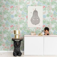 tienda online telas & papel | Papel pintado botánico Lot verde