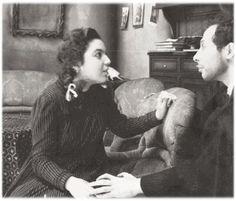 Καίτη Λαμπροπούλου και Κάρολος Κουν στην ¨Αγριογατα¨ του Ίψεν