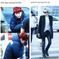 From fluffy Yoongi to Swagger Suga | allkpop Meme Center