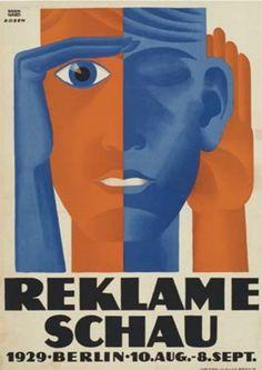 Lucian Bernhard (1883-1972, German-American), 1929, Reklame Schau, Berlin, 82.6 x 59.1 cm.