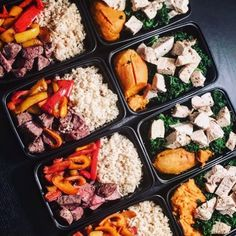 Back on her meal prep game these dishes prepared by @maggi.gao are ready to grab and go! She has steak with bell peppers & rice and chicken breast with kale & sweet potatoes! - Everything you need to start building custom meal plans and meal prepping like a master can be found by downloading @mealplanmagic! Get started today and see the results youre looking for! - ALL-IN-ONE TOOL & GUIDES -  Build Custom Plans & Set Nutrition Goals  BMR BMI & Max Rate Calculator  Learn Your Macros by Body…
