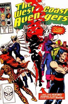 West Coast Avengers Vol. 2 # 37 by Al Milgrom & Mike Machlan