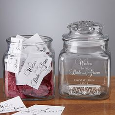 Wedding Wishes In A Personalized Jar $24.95