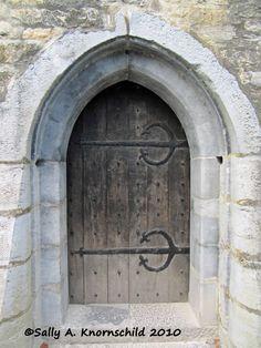 Door to Ross Castle near Killarney, Ireland