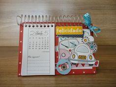 Scrap Spot: PAP / DIY / TUTORIAL Calendário de Mesa Calendar