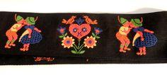 Vintage Black Embroidered Trim Vintage Folk by happenstanceNwhimsy, $15.00