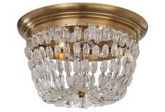 Paris 2-Light Flush Mount, Brass