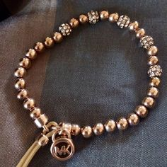 Michael Kors Rose Gold Bracelet This has never been worn. Has rhinestone details & is made of stretchy material. Retails for $95. Michael Kors Jewelry Bracelets Michael Kors Jewelry, Michael Kors Rose Gold, Stretchy Material, Jewelry Bracelets