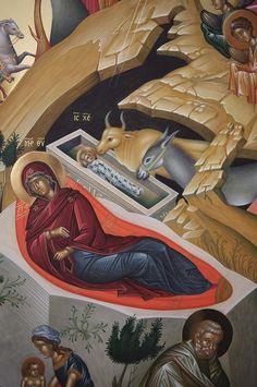 Orthodox Icons, Jesus Christ, Nativity, Nursing, Medical, Bridesmaid, Painting, Art, Atelier