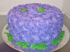 Birthday Cakes - Purple Rose cake