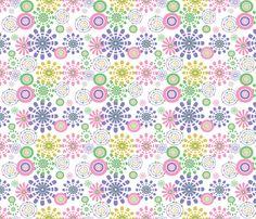 veronicas_flowers fabric by lonna_jordan on Spoonflower - custom fabric