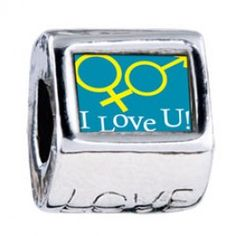 I Love You Couple Photo Love Charms  Fit pandora,trollbeads,chamilia,biagi,soufeel and any customized bracelet/necklaces. #Jewelry #Fashion #Silver# handcraft #DIY #Accessory