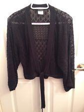 LE CHATEAU Black Crochet Bolero Shrug Cardigan