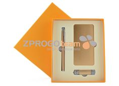 NEW: GIFT SET MDASE001 - Power banka with capacity 5000mAh & USB OTG 16GB & Ball pen