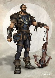 m Fighter Bandit Crossbow Leather Meet Fable Legends' ranged warrior Rook in new screenshot, high-resolution artwork Dungeons And Dragons Characters, Dnd Characters, Fantasy Characters, Archer Characters, Character Concept, Character Art, Concept Art, Character Ideas, Fantasy Portraits