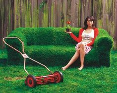 Create a super-comfortable grassy couch in your backyard this summer for maximum green, lounging goodness.