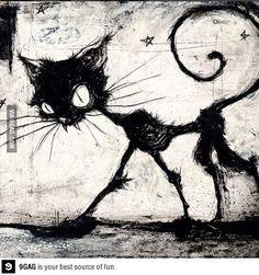Tim Burton cat loooove