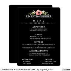 Customizable WEDDING RECEPTION MENU