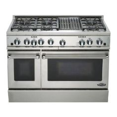 """LPG Range + Cooktop - 2 ovens, propane gas. 48"""" wide. About $5000"""
