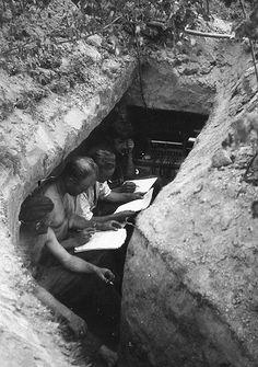 German HQ trench in Stalingrad