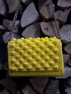 A personal favorite from my Etsy shop https://www.etsy.com/listing/591270758/happy-yellow-bag