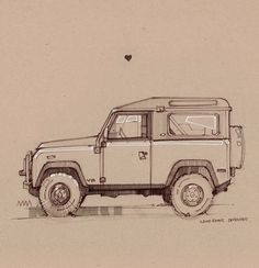 Went to Tank Land and did some sketches this weekend. A good way to relax and think about something other than school. Bike Sketch, Car Sketch, Car Drawings, Drawing Sketches, Industrial Design Sketch, Amazing Drawings, Automotive Art, Land Rover Defender, Military Vehicles