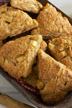 Fresh Apple Cinnamon Scones Recipe from King Arthur Flour - per reviews add more apple pieces
