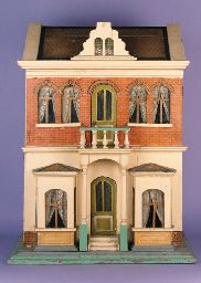 This Christian Hacker dolls house was sold at Christie's, London in 1999 for £2070.   Rick Maccione-Dollhouse Builder www.dollhousemansions.com