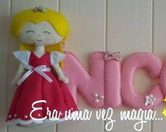 Alice in Wonderland felt Name Banner 5 letters by mywonderfelt